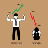 Common situation about stock market people Stock Photo