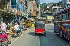 Common Sri Lankian crowded street Royalty Free Stock Photos