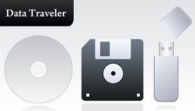 Common storage devices  Stock Photo