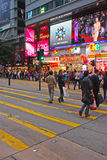 Common Street Atmosphere in Downtown Hong Kong Royalty Free Stock Photos