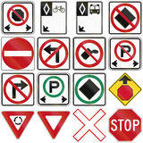 Common Traffic Signs In Canada Royalty Free Stock Photo