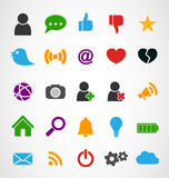 Common Web Icons Royalty Free Stock Photography