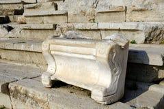 Commoners que asientan, teatro de Dionysus, Atenas, Grecia imágenes de archivo libres de regalías