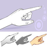 Commonly used Hand Gesture - Pointed Index Finger Royalty Free Stock Image