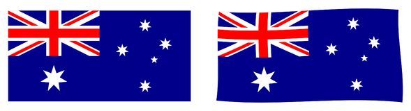 Commonwealth of Australia flag. Simple and slightly waving version. stock illustration
