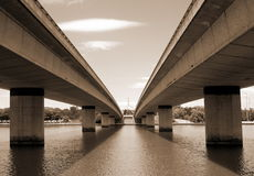 Commonwealth avenue bridge Royalty Free Stock Images