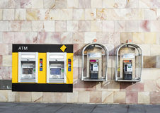 Commonwealth Bank ATM and Public Telephones Stock Photography