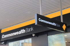 Commonwealth Bank. Of Australia.  also known as CBA is one of the four largest bank in Australia Royalty Free Stock Images