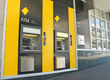 The Commonwealth Bank of Australia has branches and ATMs across the globe, including this one in Sturt Street, Ballarat Royalty Free Stock Photos