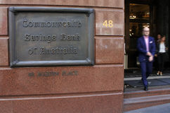 Commonwealth Bank av Australien Sydney New South Wales Australia Royaltyfria Foton