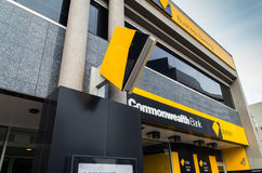 Commonwealth Bank branch. A branch of the Commonwealth Bank of Australia, Australia's largest bank Stock Image