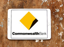 Commonwealth Bank logo. Logo of the Commonwealth Bank on samsung tablet. The Commonwealth Bank of Australia is an Australian multinational bank with businesses Stock Photos