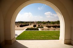 Commonwealth Cemetery in El Alamein Stock Photos