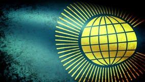 Commonwealth de drapeau de nations ondulant, grunge illustration de vecteur