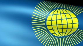 Commonwealth de l'ondulation de drapeau de nations illustration stock