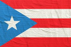Commonwealth de l'ondulation de drapeau du Porto Rico images stock