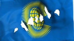 Commonwealth der Nationsflagge durchlöchert, Einschusslöcher lizenzfreie abbildung