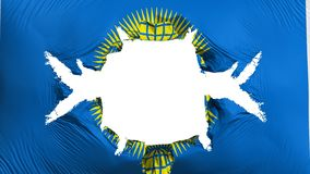 Commonwealth der Nationsflagge mit einem großen Loch stock abbildung