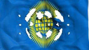 Commonwealth der Nationsflagge mit kleine Löcher lizenzfreie abbildung