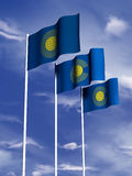 Commonwealth flag. The flag of the Commonwealth flies in front of a blue sky stock illustration