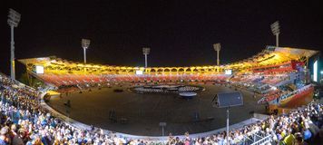 Commonwealth Games 2018 Closing Ceremony Panorama Stock Photo