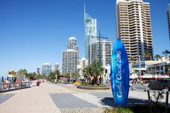 Commonwealth Games countdown clock, Gold Coast Royalty Free Stock Image