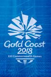 Commonwealth Games 2018 Logo. A large logo of the 2018 Commonwealth Games held in the Gold Coast in Australia. The Commonwealth Games is an international multi Stock Image