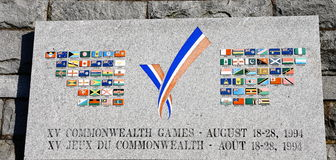 Commonwealth Games Plaque Stock Photos