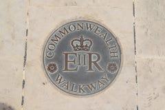 Commonwealth-Gehweg in Valletta-Stadt, Malta lizenzfreie stockfotos