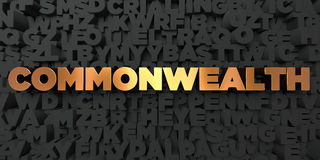 Commonwealth - Gold text on black background - 3D rendered royalty free stock picture. This image can be used for an online website banner ad or a print Royalty Free Stock Images