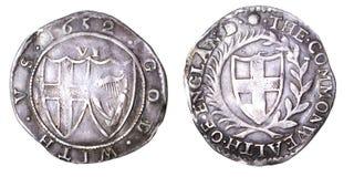 Commonwealth ixpence 1652 Lizenzfreie Stockbilder