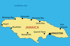 Commonwealth of Jamaica - map - vector Stock Photo