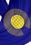 Commonwealth of Nations Flag. Commonwealth of Nations 3D Flag. Close Up Stock Image