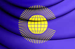 Commonwealth of Nations Flag. 3D Illustration Royalty Free Stock Photo