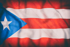 Commonwealth of Puerto Rico flag waving. 3d rendering of an old Commonwealth of Puerto Rico flag waving Royalty Free Stock Photo