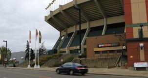Commonwealth Stadium, maison aux Edmonton Eskimos 4K de CFL banque de vidéos