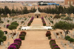 Commonwealth war cemetery at El Alamein Royalty Free Stock Images