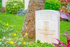 Commonwealth war cemetery In Sri Lanka. KANDY, SRI LANKA –AUGUST 14: Commonwealth war cemetery on August 14 2017 in Kandy, Sri Lanka. It is a British military Royalty Free Stock Photo