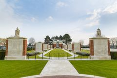 The Commonwealth War Graves Commission CWGC DUNKIRK MEMORIAL CEMETARY, Dunkerque, France.  Royalty Free Stock Image