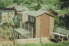 Communal allotments in Suffolk, England. Stock Photo