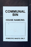 Communal Bin label Stock Images