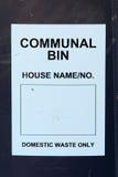 Communal Bin label Stock Images