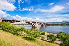 Communal bridge in Krasnoyarsk Stock Photography