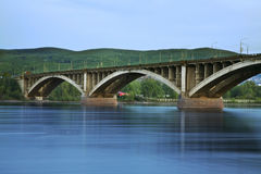 Communal bridge in Krasnoyarsk. Russia Royalty Free Stock Image