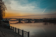Communal bridge in Krasnoyarsk Royalty Free Stock Photography