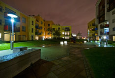 Communal garden at night Royalty Free Stock Image