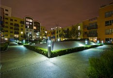 Communal garden at night Royalty Free Stock Photos