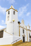 Communal tower, Misericordia and Senhor dos Passos churches in Veiros town, Estremoz, Portugal Stock Photography