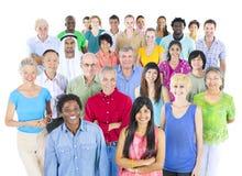 Communautair de Menigte Toevallig Concept van de diversiteitsmenigte royalty-vrije stock afbeelding