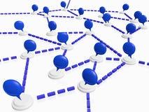 Communautair het Babbelen Netwerk met Toespraakbellen Stock Foto's